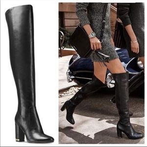 Micheal Kors Sabrina Leather Over-the-Knee Boot
